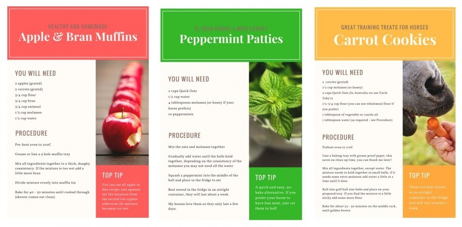 Recipe Cards from Canva