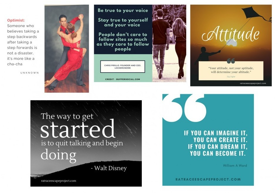 quotes I created in Canva