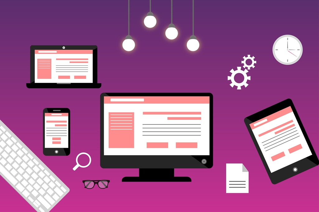 purple background website design
