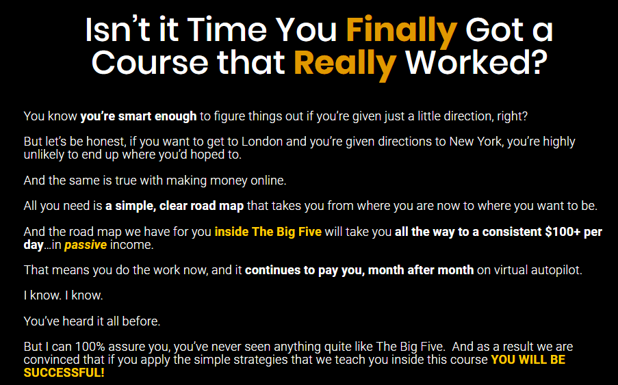 The Big Five A Course That Works