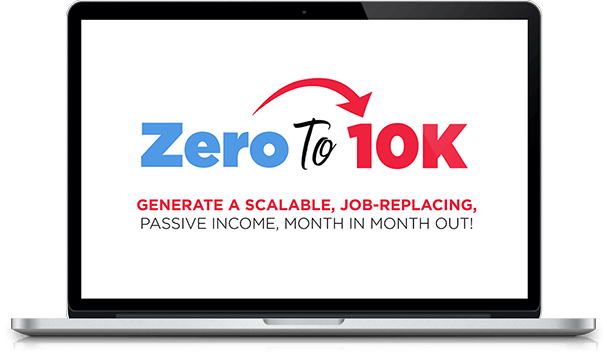 Zero to $10K Logo on computer screen