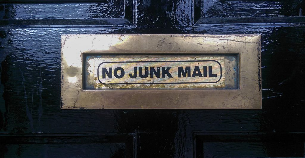 No Junk Mail letterbox