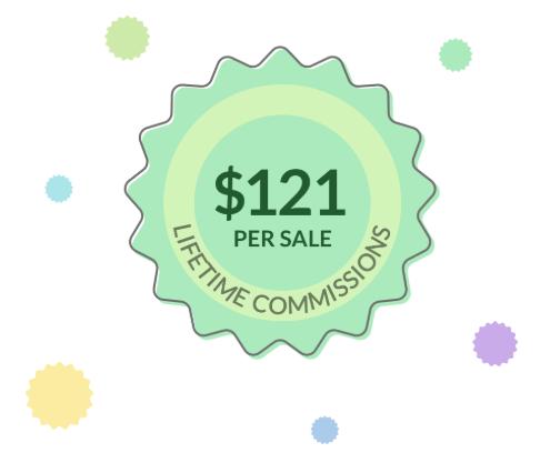 $121 per sale commission stamp