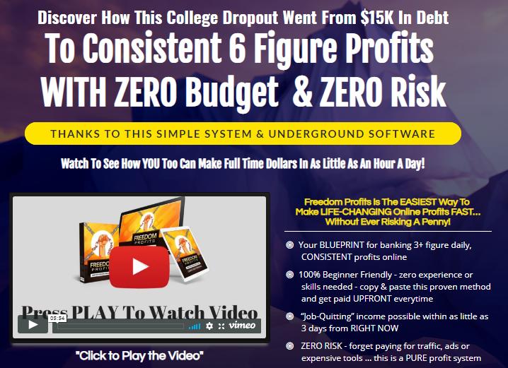 Freedom Profits Zero Risk and Zero Budget