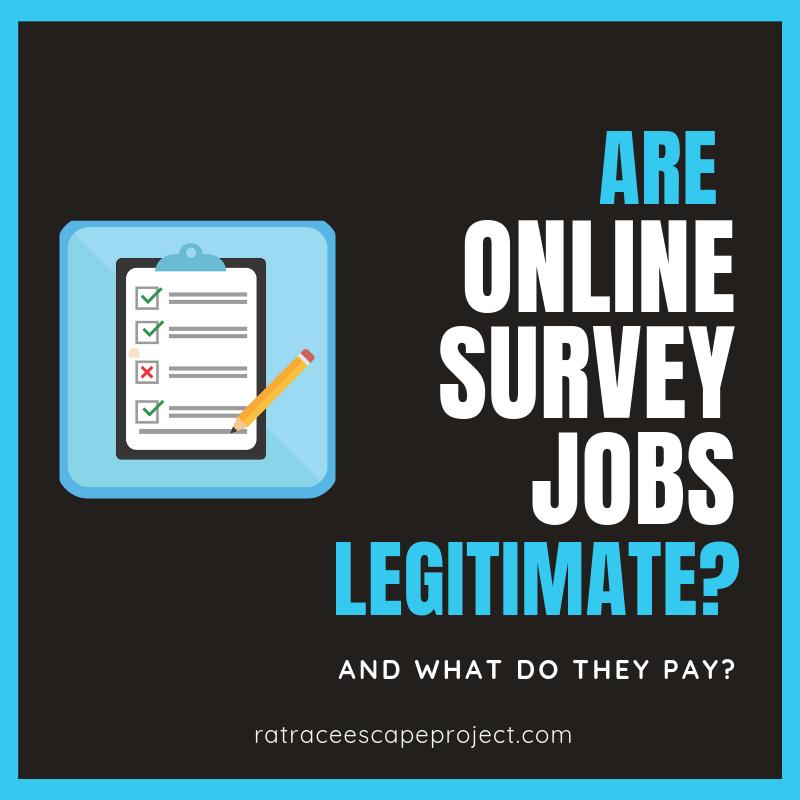 are online survey jobs legitimate graphic